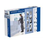 APPENDO Display Kit 5 DIN A4 Acryltaschen, 20 E-Clips